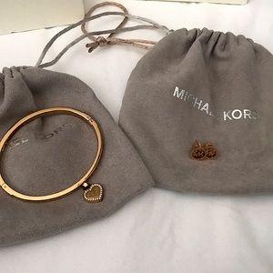 Michael Kors Bracelet & Earrings Set